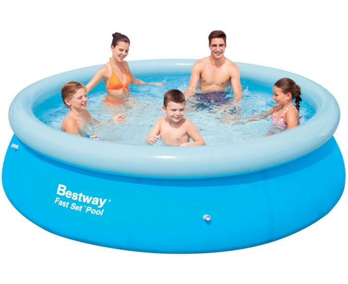 Bestway Fast Set Round Inflatable Pool 10ft X 30 No Pump