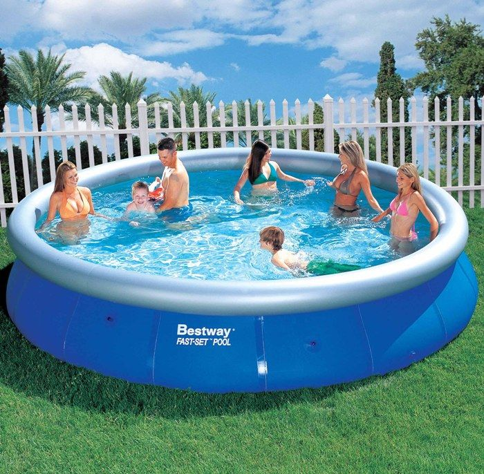 Bestway fast set round inflatable pool 15ft x 36 no pump for Bestway swimming pools
