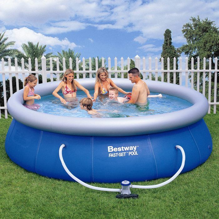 bestway fast set round inflatable pool 12ft x 36 57263 inflatable pools. Black Bedroom Furniture Sets. Home Design Ideas