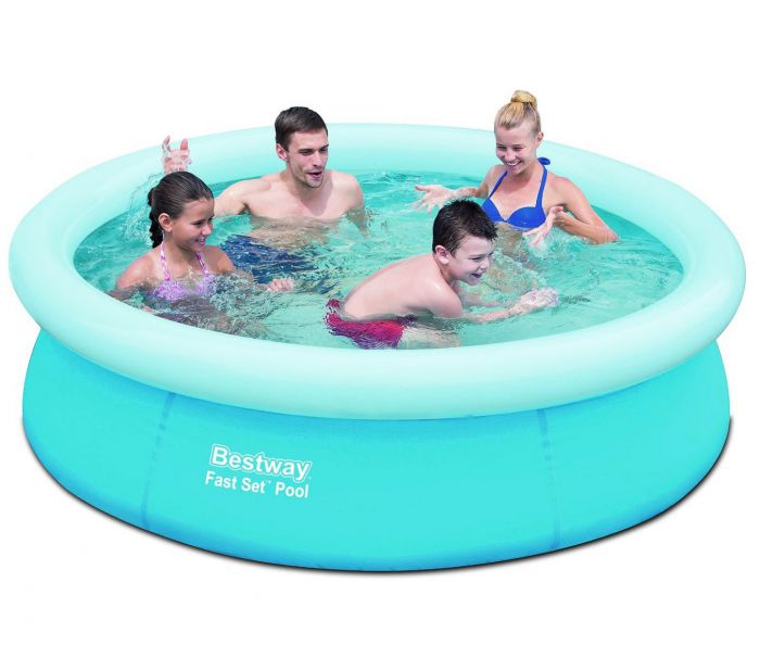 bestway fast set round inflatable pool 78 x 20 no pump 57252 paddling pools. Black Bedroom Furniture Sets. Home Design Ideas