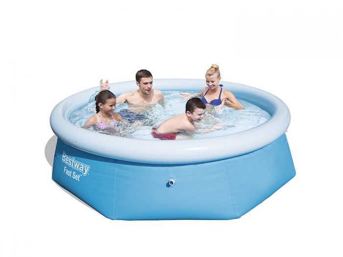 Bestway fast set round inflatable pool 8ft x 26 no pump Inflatable quick set swimming pool