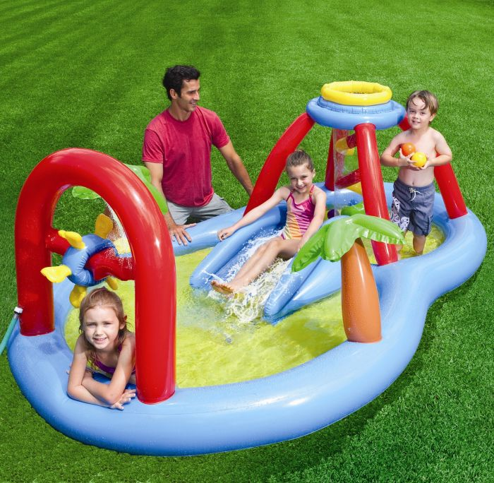 Windmill blow spray play centre paddling pool paddling pools for Garden paddling pool