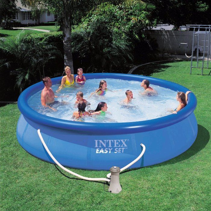 Intex Easy Set Saltwater Inflatable Pool Package 18ft X 52 57932 Inflatable Pools