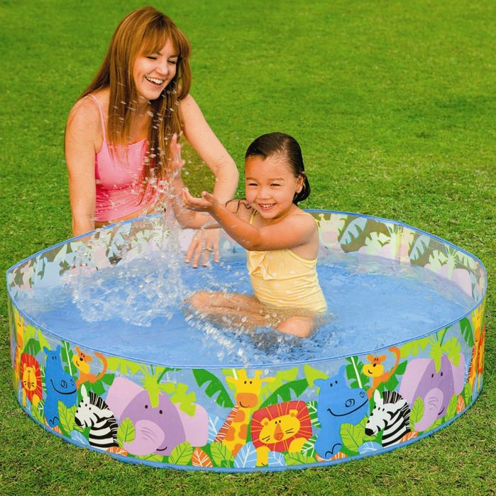 Snapset rigid wall pool quick easy set garden swimming for Rigid paddling pool