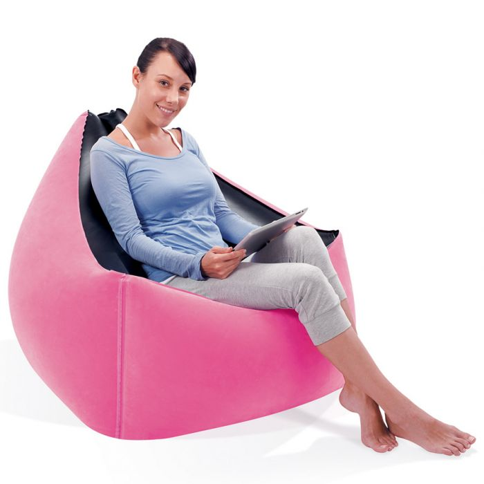 Moda Pink Inflatable Chair Air Beds And Pillows