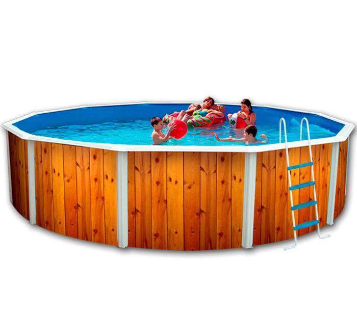 white coral wood effect steel pool x steel pools. Black Bedroom Furniture Sets. Home Design Ideas