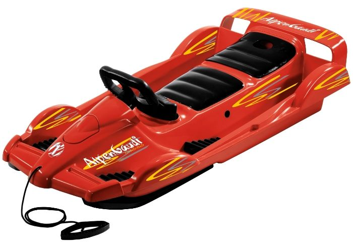 Snow Double Racer Red Sledge Toboggan Thumnail #0