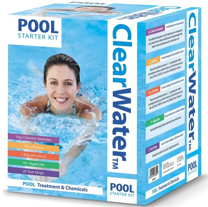 Clearwater pool chemical starter kit pool cleaning - Swimming pool cleaning chemicals list ...