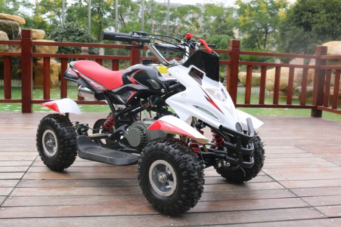 50cc Dirt Ninja Mini Off-Road Petrol Quad Bike - Red Thumnail #0