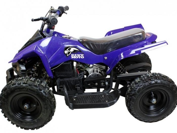 Electric 500w 36v Quad Bike - Blue Thumnail #0