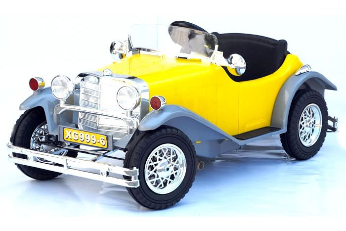 6 Volt Battery Powered Ride On Classic Car GB999-6 - Yellow Thumnail #0