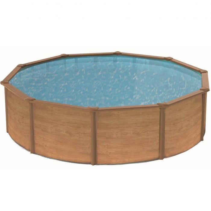 Canyon Wood Effect Steel Pool 3 9m