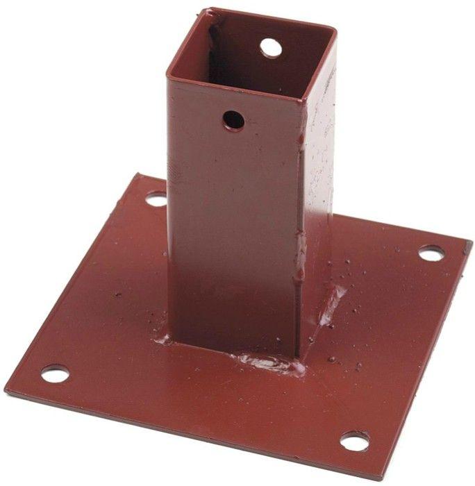 Metpost Bolt Down Post Support Plain Box 50mm Fencing