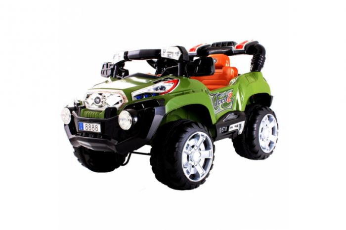 Green Monster Truck Toy : V monster truck style ride on car with remote control