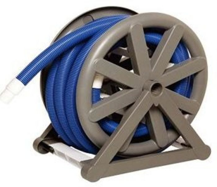 pool vacuum hose reel without hose pool cleaning chemicals. Black Bedroom Furniture Sets. Home Design Ideas