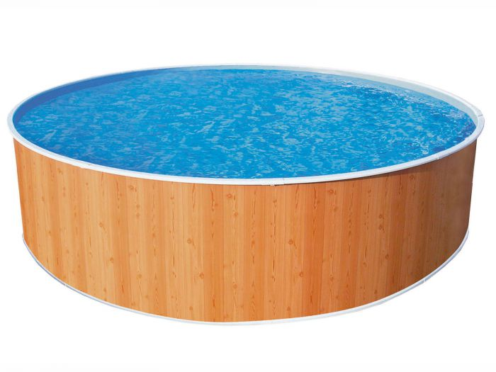 Wood Effect Splasher Pool 10ft X 36 With In Pool Pump Steel Pools