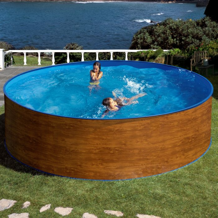 Swimming Pool Effects : Wood effect splasher pool ft in steel pools