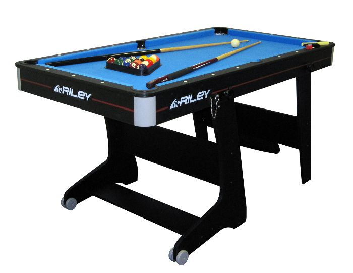 Riley 5ft deluxe folding pool table for 10ft x 5ft snooker table