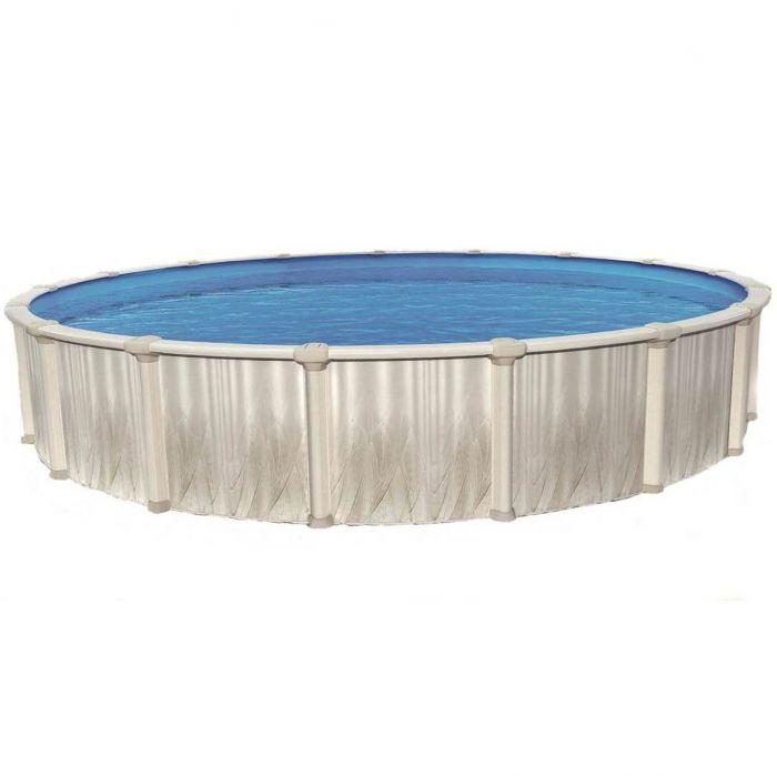 Equinox oracle ii round steel swimming pool 12ft for Swimmingpool rund