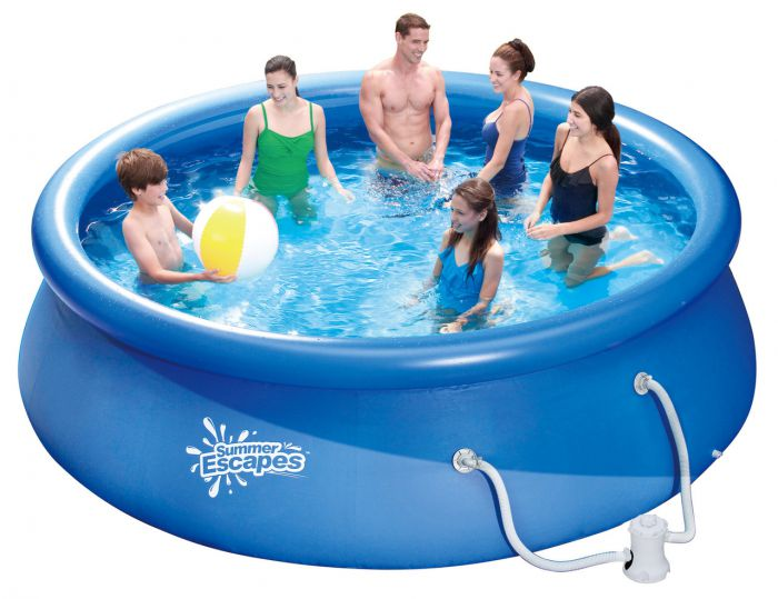 Summer Escapes Quick Set Round Inflatable Pool 15ft X 36
