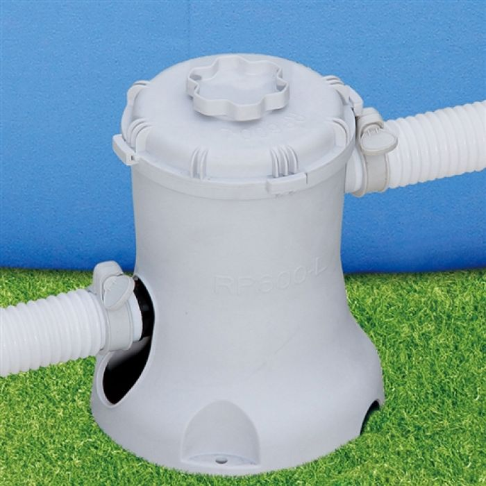 Summer escapes pool filter pump 580 gall hr pool pumps for Obi filtersand pool