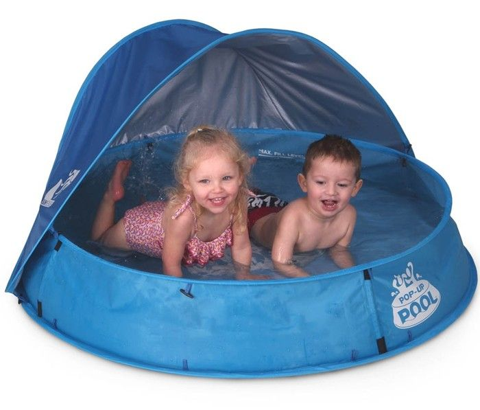 Blue pop up paddling pool 48 for Pop up paddling pool