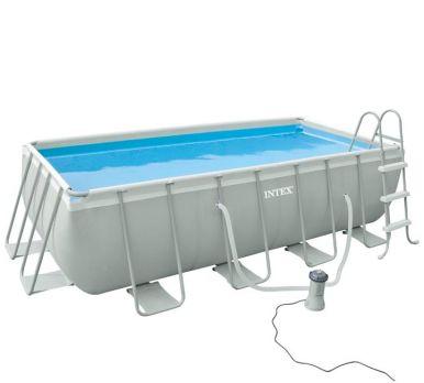 intex ultra frame rectangular metal frame pool package 157 1 2 x 78 3 4 x 39 3 8. Black Bedroom Furniture Sets. Home Design Ideas