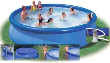 Intex easy set saltwater inflatable pool package 18ft x 52 - Intex easy set pool 18 x 52 ...