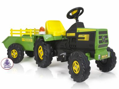 Injusa Tractor and Trailer with Light and Sound - 6 Volt