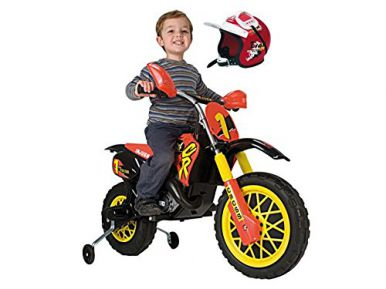 Injusa Motocross Scrambler with Helmet - 6 Volt
