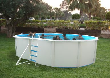 white coral oval steel pool x steel pools. Black Bedroom Furniture Sets. Home Design Ideas