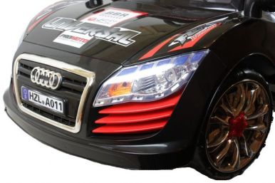 6 Volt Battery Powered Ride On Car Audi GBA011 - Black