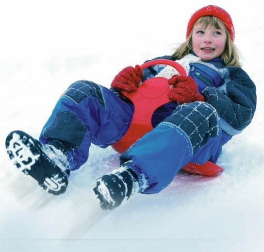 Snow Glider Green Sledge Toboggan