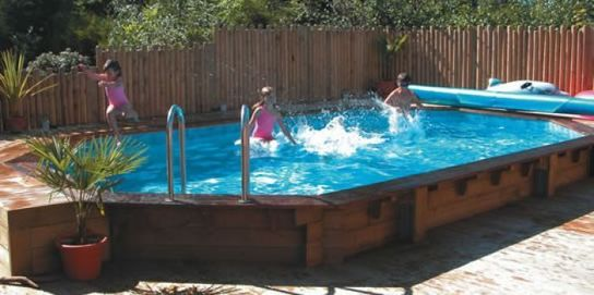 Eco Stretched Octagonal Wooden Pool - 7.2m x 5m by Plastica