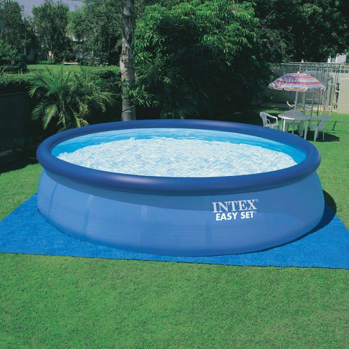 Intex ground cloth 15 1 2 ft pool liners ground cloths for 15 ft garden pool
