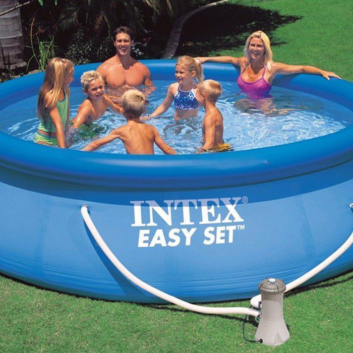Intex easy set inflatable pool 8ft x 30 no pump 28110 for Small paddling pool