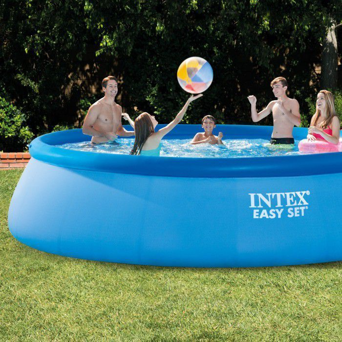 Intex Easy Set Inflatable Pool Package 15ft X 42 28166 Inflatable Pools