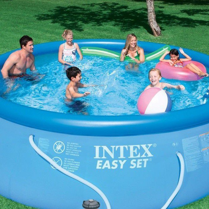intex easy set inflatable pool package 15ft x 48 28168 inflatable pools. Black Bedroom Furniture Sets. Home Design Ideas