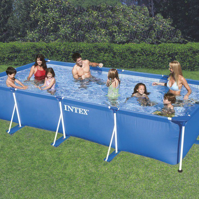 "Intex Rectangular Metal Frame Pool No Pump 177 1/4"" x 86 5/8"" x 33"" - 28273 Thumnail #1"