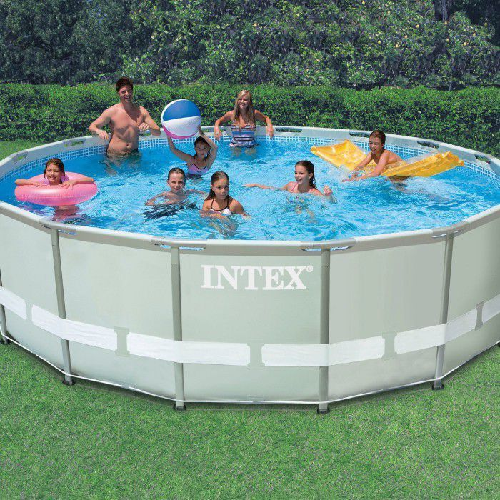 intex ultra metal frame round metal pool 16ft x 48 28322 metal frame round pools. Black Bedroom Furniture Sets. Home Design Ideas