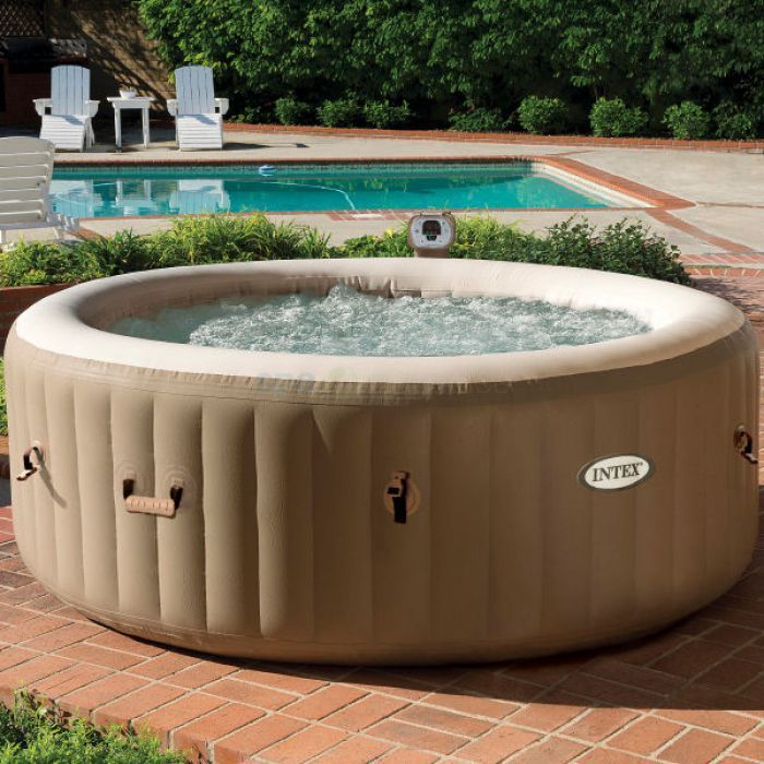 Intex Purespa 6 Person Bubble Inflatable Hot Tub