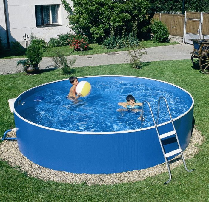 Swimming Pool Steel : Blue splasher pool ft quot steel pools