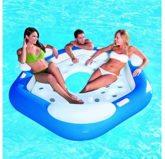 "X3 Island Inflatable 75"" x 70"" - 43111 Thumnail #1"