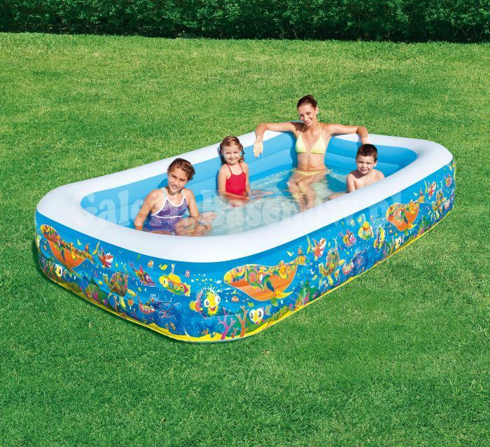 "Aquarium Rectangular Family Paddling Pool 120"" - 54121 Thumnail #1"