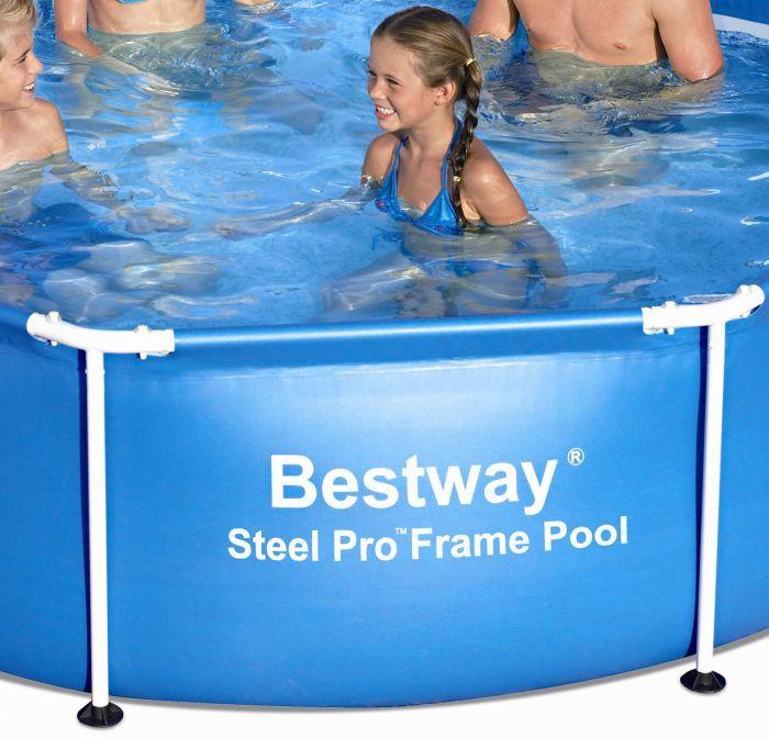 8ft X 24 Octagonal Paddling Pool 56045 Metal Frame Round Pools