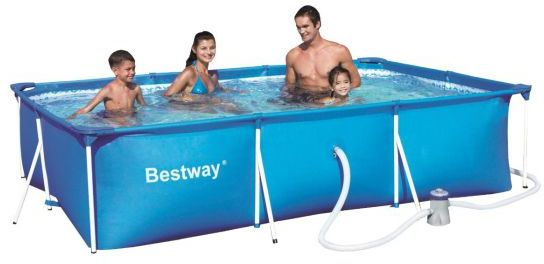 Rectangular frame paddling pool 118 with pump for Paddling pool filter