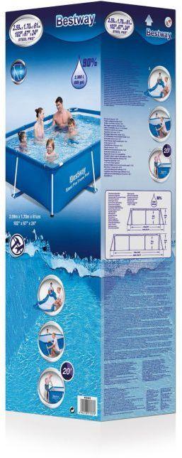 "Bestway Steel Pro Rectangular Frame Pool No Pump 102"" X 67"