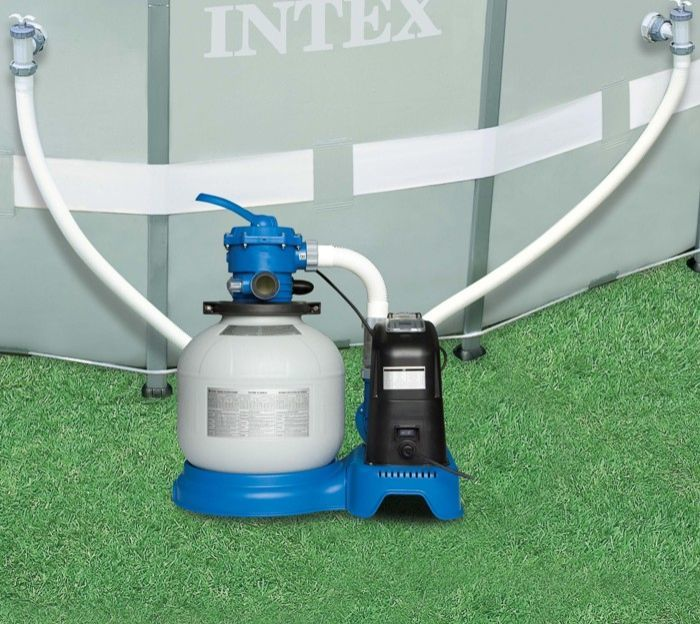 Intex 1600 gall hr krystal clear sand filter pump with How to get air out of swimming pool pump