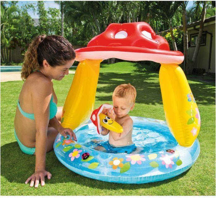 intex mushroom baby paddling pool 57114 paddling pools