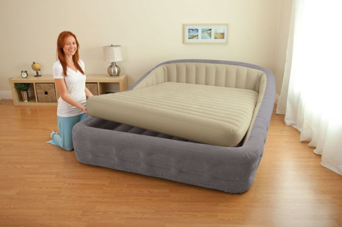 Intex Queen Size Comfort Frame Air Bed With Hand-Held AC ...